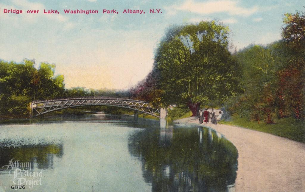 Bridge Over Lake, Washington Park 01