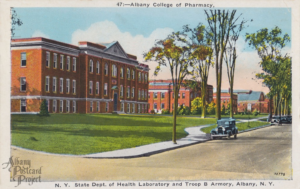Albany College of Pharmacy, NY State Dept of Health Laboratory and Troop B Armory