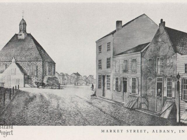 Market Street, Albany,  in 1805
