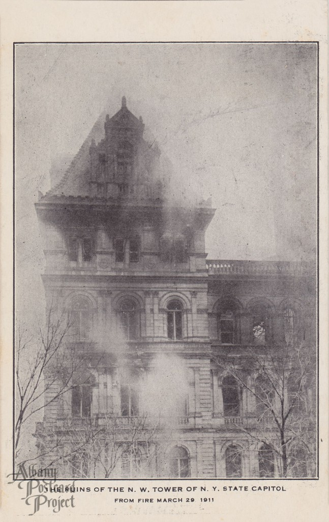 The Ruins of the NW Tower of NY State Capitol From Fire March 29 1911
