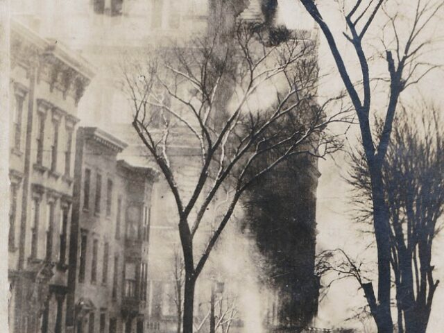 South Tower, Albany NY State Capitol in Flames NYS Capitol Fire Mar 29 1911