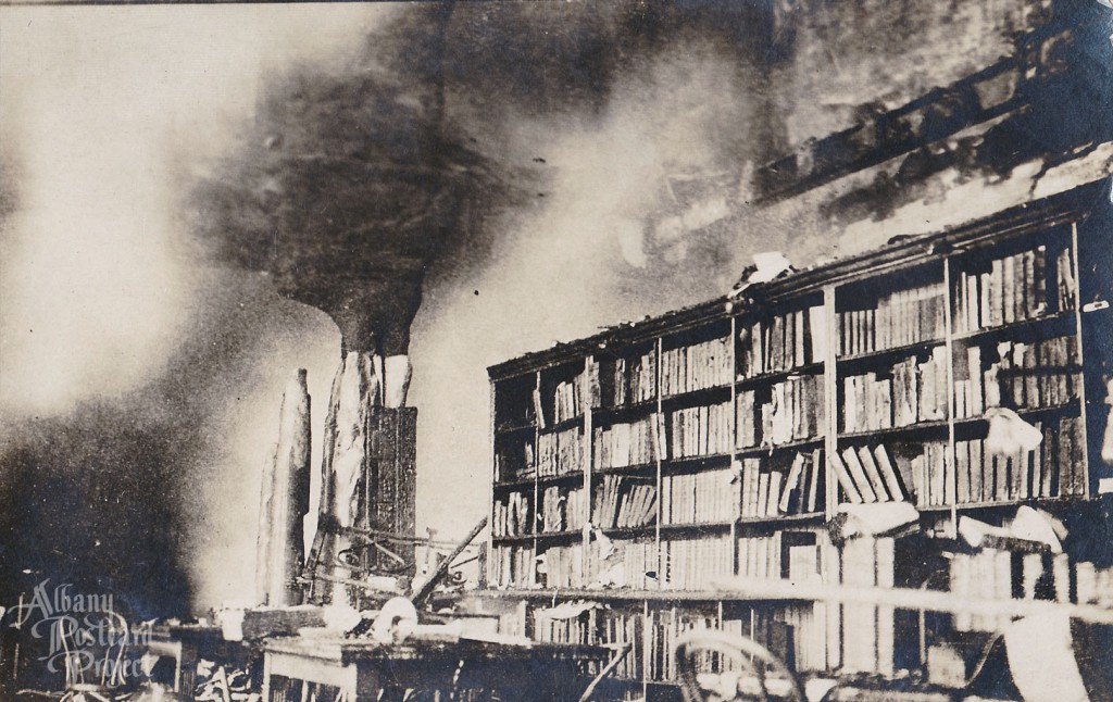 New York State Capitol Fire, Library