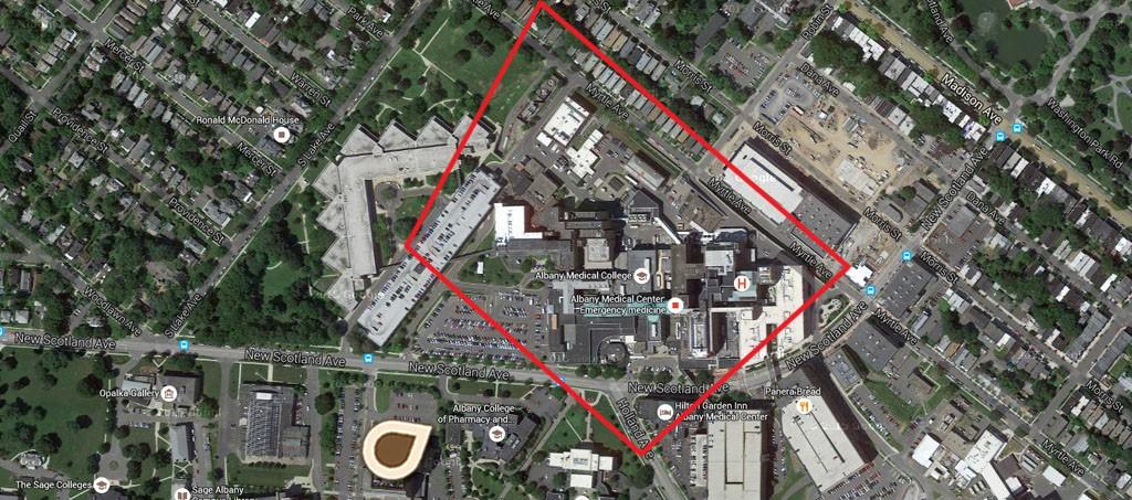 Map Albany General Hospital
