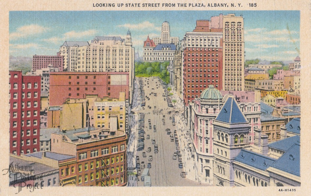 Looking up State Street from the Plaza