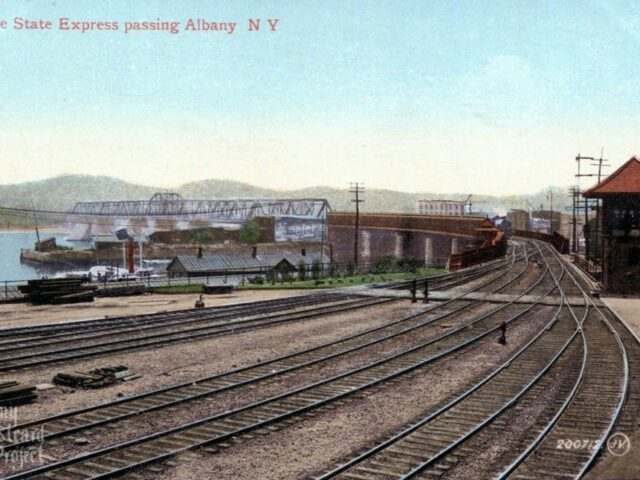 Empire State Express passing Albany