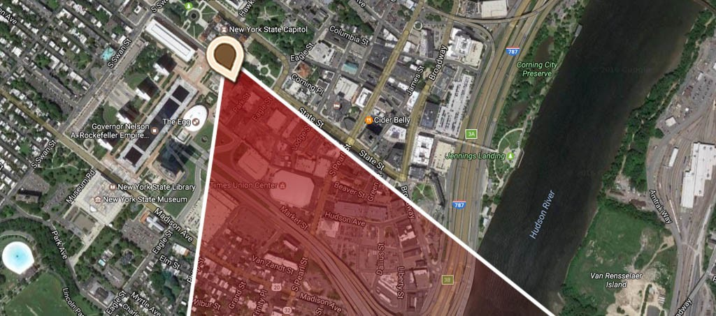 Map Panoramic View of Albany